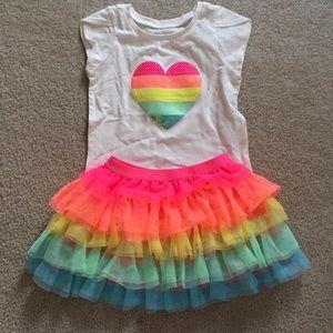 NEW Adorable rainbow tutu and shirt